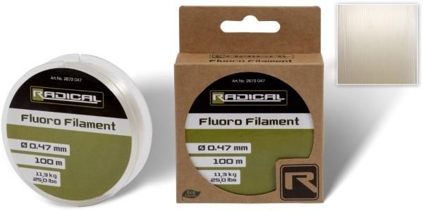 Radical Fluoro Filament 100m - Klare Flurocarbonschnur