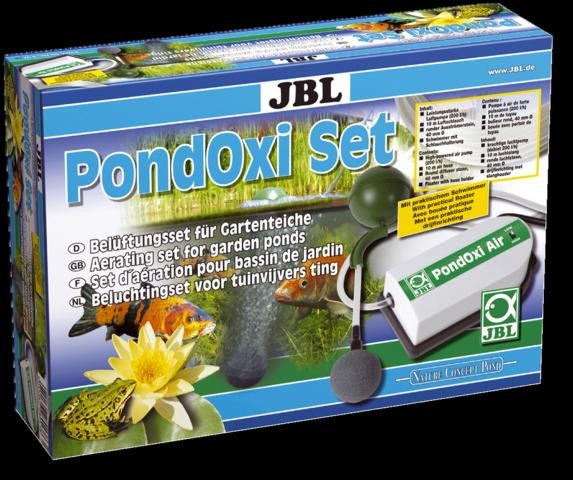 JBL PondOxi-Set - Belüftungs-Set mit Luftpumpe für Gartenteiche