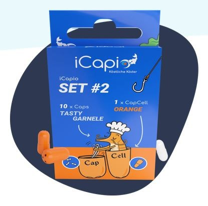 iCapio Set #2 Tasty Garnele Aktivköderkapsel 10Stk