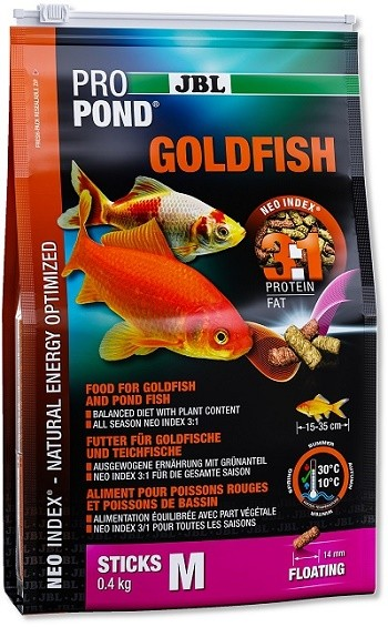 JBL ProPond Goldfisch M - Futtersticks für mittlere bis große Goldfische