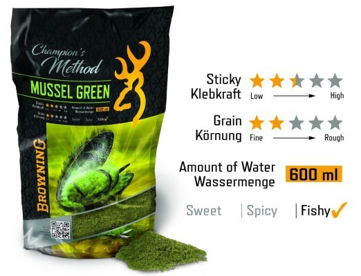 Browning Champion's Method Mussel green grün 1kg