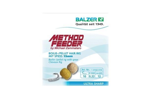 BALZER Feedermaster Method Feeder Hair Rig mit Speer 15mm