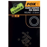 FOX EDGES Kuro Coated Rig Rings - 3.2mm Medium
