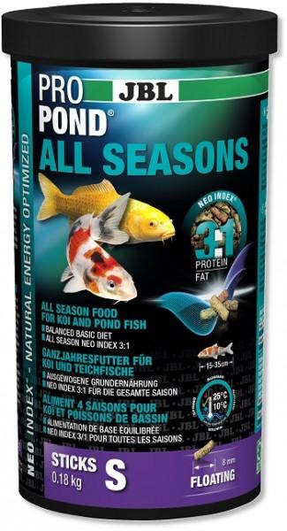 JBL ProPond All Season S - Ganzjahresfutter für kleine Koi & Teichfische