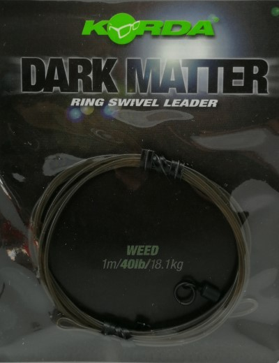 Korda Dark Matter Ring Swivel Leader 40lb 18,1kg 1m Weed