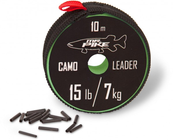 Mr. Pike Camo Coated Leader Material 10m camou