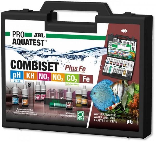 JBL PROAQUATEST COMBISET Plus Fe - Testkoffer für die wichtigsten Wasserwerte in Süßwasser-Aquarien