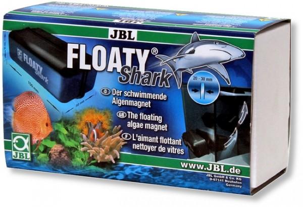 JBL Floaty Shark - Schwimmender Scheiben-Reinigungsmagnet für dicke Aquarienscheiben
