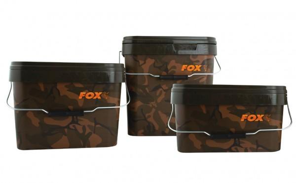 FOX Square Carp Buckets - Futtereimer 10L