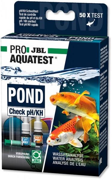 JBL PROAQUATEST POND Check pH/KH - Schnelltest zur Bestimmung von Säuregehalt und pH-Stabilität in G