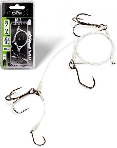 Quantum Mr. Pike Ghost Traces Bait-Release-Rig mit 50cm Vorfach