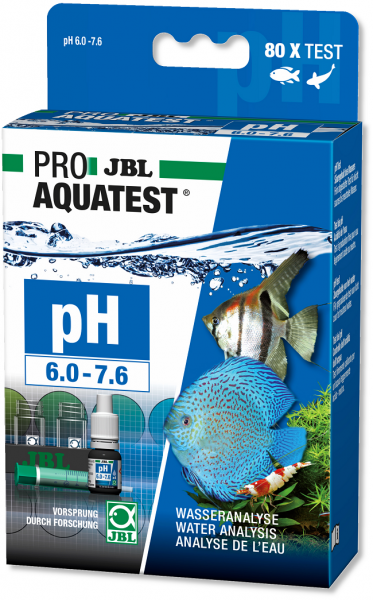 JBL PROAQUATEST pH 6.0-7.6 - Schnelltest zur Bestimmung des pH-Wertes in Süßwasser Aquarien im Berei