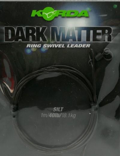 Korda Dark Matter Ring Swivel Leader 40lb 18,1kg 1m Silt