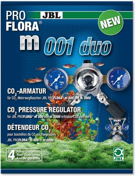 JBL PROFLORA m001 duo - Armatur zur Druckminderung für ZWEI CO2 Pflanzen-Düngeanlagen