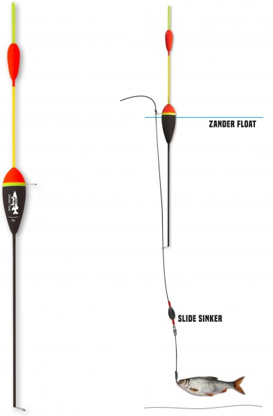 Mr. Pike Zander Float 280mm schwarz