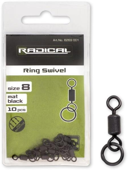 Radical Ringwirbel Mat Black Non Reflective Gr.8 10Stk