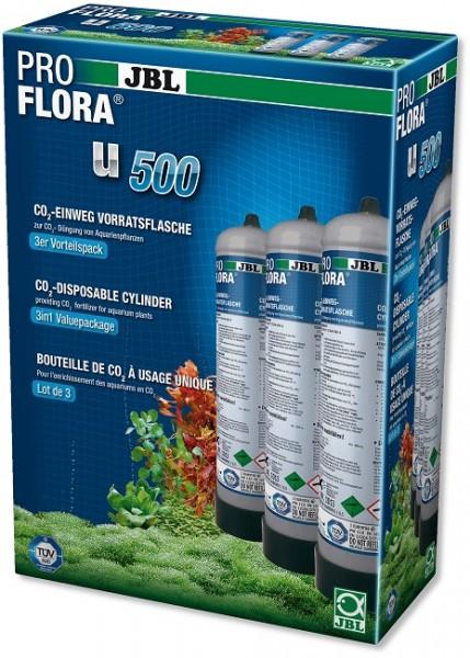 JBL PROFLORA 3 x u500 - CO2-Einweg-Vorratsflasche (3er Pack)