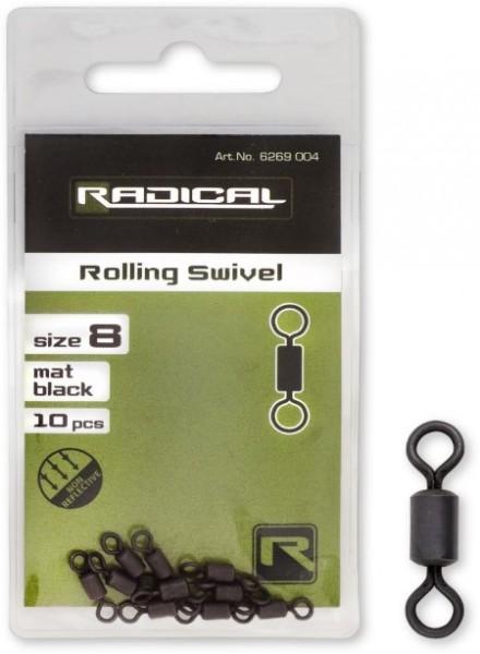 Radical Tönnchenwirbel Mat Black Non Reflective Gr.8 10Stk