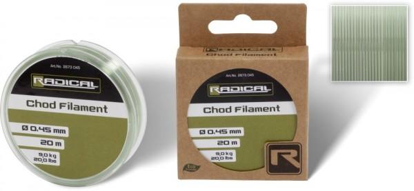 Radical Chod Filament 9kg 20lbs 20m - hellgrün
