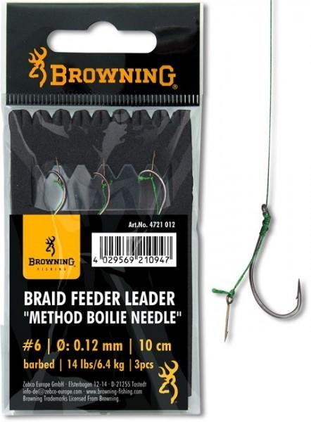 Browning Braid Feeder Leader Method Boilie Needle Bronze Vorfach 10cm